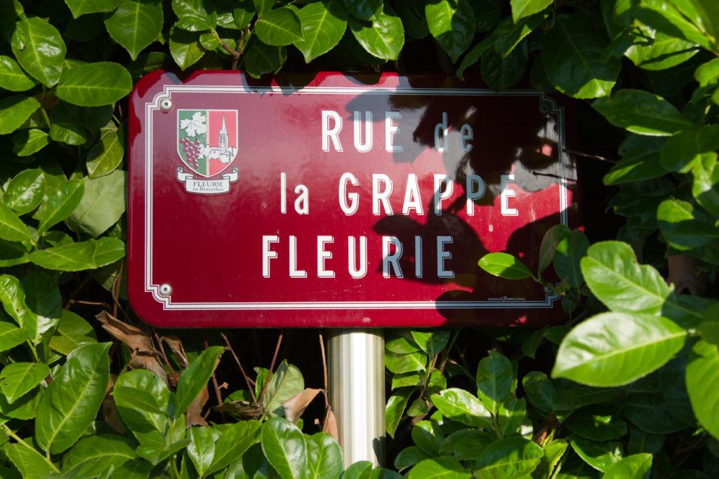 AOC Fleurie Route Beaujolais